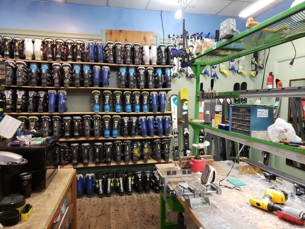 Blue Sky Ski Rental repair station